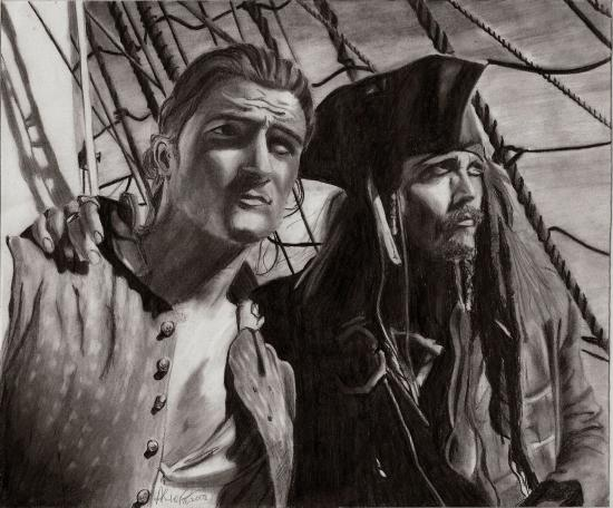 Johnny Depp, Orlando Bloom by AsiulkA